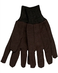 BROWN JERSEY COTTON GLOVES