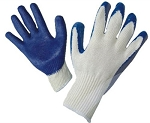 ECONOMY BLUE PALM LATEX COATED GLOVES