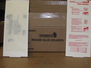 Catchmaster mouse Glue Boards