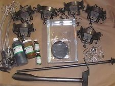 Coyote Trapping Package duke #2 coil spring Fox Coyote Raccoon Trapping  BEST SELLER !!!!!!!!!!!