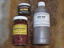 1-16 oz.Carman's PRO-MIX red fox scent 1-circle maker 2oz. 1-bushwacker 8oz bait