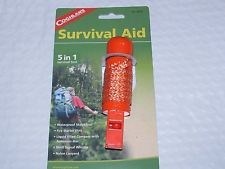 Coghlans Emergency Survival Aid Kit 5-in-1 8634 Whistle Compass Matches Lanyard
