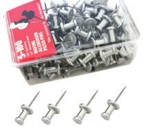 Aluminum Head Steel Needle Push Pins